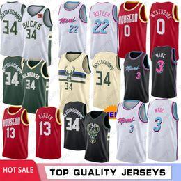 vadear baloncesto Rebajas NCAA Giannis 34 Antetokounmpo universitario masculino jerseys del baloncesto Dwyane Wade 3 Jimmy Butler, 22 Russell Westbrook 0 James Harden 13