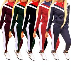3dbed5177c1 Wholesale Brand Designer Women Jacket 2 Piece Set Outfits Coat Leggings  Tracksuit Shirt Pants Jogging Suit Sportswear Sweatsuit