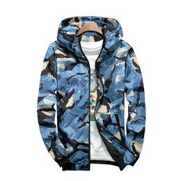 Xl mode camo kleidung online-Camouflage Jacke Student Hooded Sports Jacke Herren Fashion Holiday Camo Hooded Sonnenschutz Military Jacke Parka Streetwear Bekleidung