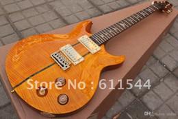 2019 guitare électrique oem st En gros Date Santana jaune guitare électrique 24 frettes de haute qualité en stock livraison gratuite2018
