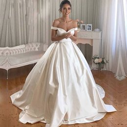 931a982b60 Latest Design African Wedding Dresses 2019 New Ball Gown Off The Shoulder  Bridal Gowns Sweep Train Plus Size Vestidos De Novia Free Shipping