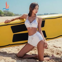 fd9902fdac Womens Bikini 2019 Push Up New Swimwear Plus Size Women Bathing Suits  Swimsuit Female Split Sexy Sportswear Solid Polyester