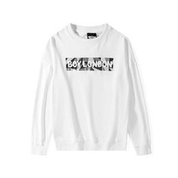 Ragazzo londra pullover bianco online-Boy London Felpe con cappuccio da uomo firmate Felpe di lusso da uomo di alta qualità Uomo Donna Inverno e autunno Pullover casual Nero Bianco