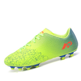 kids football trainers Promo Codes - Professional Boys Kids Soccer Cleats Shoes Lightweight Turf Football Soccer Shoes Hard Court Outdoor Trainers Hot Sale D0588