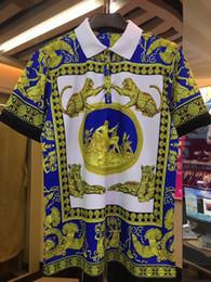 bandana de chien noir Promotion 20189 Italie Tee T-Shirt Medusa Designer Polos High Street Broderies Jarretelles De Broderie Petite Abeille Impression Vêtements Marque Hommes Polo Shirt