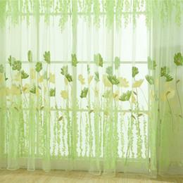 1PC Finestra tende 1M * 2M puro voile Tulle per Camera da letto Soggiorno  Balcone Cucina stampato Tulip modello Sun-ombreggiatura Curtain