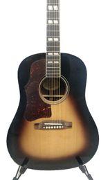 Guitarra acústica faz on-line-Feito sob encomenda canhoto han todo sólido guitarra acústica 41 polegada J45 lefty guitarra tabaco sunburst sólida spruce sólido jacarandá Chinês guitarras