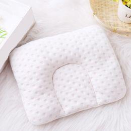 almohada de dormir lado del bebé Rebajas Almohada suave para bebés Niños pequeños Niños Chicos Geometría encantadora algodón Bebé recién nacido Ropa de cama Oval Nueva llegada una pieza