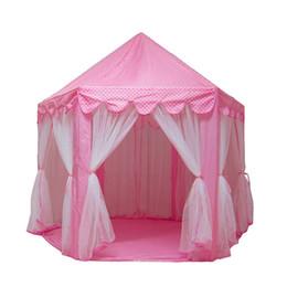 2019 mädchen spielen zelte Princess Castle Play House Großes Outdoor-Kinder-Spielzelt für Mädchen Pink günstig mädchen spielen zelte