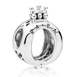Valentine armbänder online-2019 925 sterling silber plata esterlina pandora charms encantos prinzessin zirkonia nette krone perlen für diy dame armbänder valentines