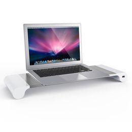 2019 carregador de carro usb laptop Titular da liga de alumínio Base de Dados inteligente 4 Porta USB Charger Stand para PC desktop carro Laptop FW889 carregador de carro usb laptop barato