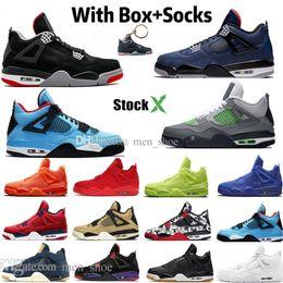 2019 nuevos zapatos de baloncesto Nueva Bred cemento blanco 4 4sLoyal azul Lo Los Cactus Jack Zapatos fresco gris para hombre del baloncesto FIBA Denim Blue Raptors Deportes zapatillas de deporte de diseño rebajas nuevos zapatos de baloncesto