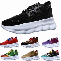 Nueva marca de reacción de lujo para hombre zapatos de diseñador Zapatillas de deporte Casual zapatos as ligeros con cadenas de goma zapatillas de deporte de diseño tamaño 35-45 desde fabricantes