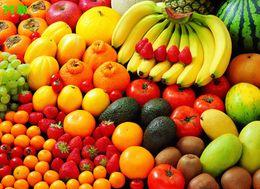 fondo de pantalla de frutas Rebajas Mural 3d personalizado 3D verduras frutas mural supermercado cocina fondo pared restaurante snack bar fondo de pantalla