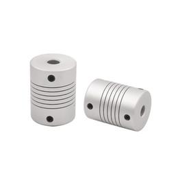 Wholesale Pièces de l imprimante D D20 L25 Moteur pas à pas en alliage d aluminium Z Axe Flexible Couplage Coupler Accouplements Accouplement taille du trou intérieur mm à mm