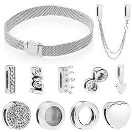 Medallones encantados online-2018 Reflexion Clip Charm Fits Charm Pulsera de Plata 925 Original Flotante Corazón Locket Bead DIY Making Jewelry Women