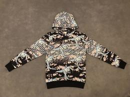 Maquinas para mujeres online-19ss Francia Italia Nueva moda caliente estilo de corte de la máquina dinosaurio sakura Imprimir suéter Algodón hombres mujeres Sudaderas Con Capucha de Lujo