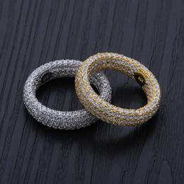 anelli di nozze di ghiaccio Sconti Anelli in argento sterling 925 Anelli di fidanzamento Set da sposa Hip Hop Designer Jewelry Uomo Zircone Love Ring Iced Out Charms