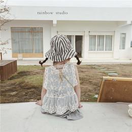 2019 blusas coreanas de algodón Ropa infantil Vestido de verano 2019 Nuevo Coreano, niña Algodón, chaleco de encaje, blusa de hada infantil rebajas blusas coreanas de algodón