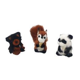 2019 nouveaux trois adorables animaux câlins en peluche écureuil ours chat en peluche animal de table décoration festival intérieur fête enfants cadeau ? partir de fabricateur