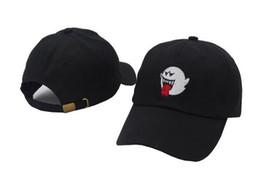 Casquette mario boo en Ligne-2019 New Black Denim Distressed Boo Mario Ghost Papa Chapeau Chapeau hip hop casquette de baseball chapeaux pour hommes femmes casquette