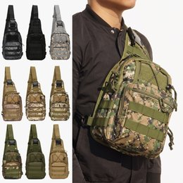Sacos de ombro de bicicleta on-line-Tactical camuflagem Peito Bolsas Outdoor Camping Caminhadas Bag Single-Shoulder Bag Camo Bicicleta saco de armazenamento Sports Diagonal Package BH2405 TQQ