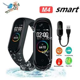 M4 braccialetto intelligente fitness tracker orologio da polso frequenza cardiaca polso pressione sanguigna per iPhone telefoni cellulari Android PK fitbit XIAOMI MI BAND 3 in scatola da xiaomi mi box fornitori