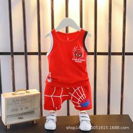 Vecchia maglia bambino online-Baby senza maniche Set da ginnastica Cotton Boy Vest sottile da 3 anni Summer Boy Baby Dress Summer Tide