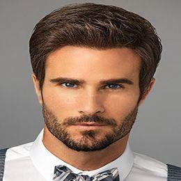 Homens de cabelo curly curly on-line-Partido perucas curto novo dos homens europeus e americanos Side cabelo curto encaracolado 15 cm de comprimento com Alto grau Rose Intranet