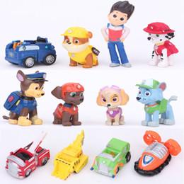 jeux vidéo manuels Promotion 12 chien équipe de sauvetage poupée 4-8cm ornements poupée à la main poupées micro paysage modèle de jeu vidéo anime Marshall Ryder Rocky Chase Zuma Skye