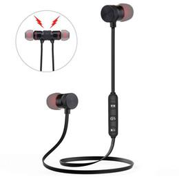 bluetooth kopfhörer mp3 Rabatt Bluetooth Kopfhörer Magnetic Wireless Running Sport Ohrhörer Headset BT 4.1 mit Mikrofon MP3 Ohrhörer für iPhone Huawei Samsung LG Smartphones