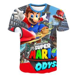 2019 mario bros vidéos 2019 plus récents jeux vidéo super mario bros impression 3D t-shirt unisexe anime Cartoon jeux cool combats Mario TShirt style décontracté haut