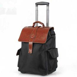 Rodas de sacos escolares on-line-Moda Oxford Homens Rolando Mochila Spinner Saco de Viagem Malas 2 Roda Carrinho de Negócios Carry Mulheres Mochilas Escolares Bagagem Tronco mochila
