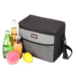 Grandes sacos isolados on-line-Multi-função Duplas Lunch Box Grande Capacidade piquenique saco impermeável armazenamento Handbag Thicken Bag térmica Bolsa Termica