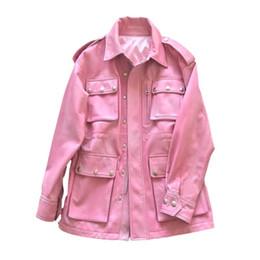 Argentina Abrigo de piel de mujer 100% Abrigo de piel de oveja Chaqueta de cuero genuino real Ropa de mujer 2019 Rosa coreana elegante chaqueta femenina ZT2229 supplier women fur pink jacket korean Suministro