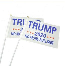 2019 confeti de plata al por mayor Decor Trump Banner Blanco Squarehand Agitando Poliéster Gran 2020 Banderas Presidente EE. UU. Venta Caliente 2xf3 E1