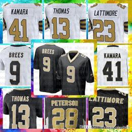 Top Sale 9 Drew Brees Jersey New Orleans Saints Mens 41 Alvin Kamara 23  Marshon Lattimore 13 Michael Thomas 28 Adrian Peterson Jerseys 37538cbdc
