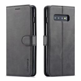 Carte de note en Ligne-LC.IMEEKE Etui à rabat en cuir pour Samsung Galaxy S10 S9 S8 plus S10E 5G Note 8 9 A6 A7 A8 J4 J6 2018 Coque Coque Téléphone Coque Portefeuille Fente pour carte