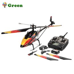 helicóptero solo Rebajas Wltoys V913 Sin escobillas 2.4G 4CH Single Blade Giroscopio incorporado Vuelo súper estable Motor de alta eficiencia Helicóptero RC