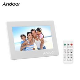 Andoer 7-дюймовый светодиодный цифровой фоторамки Настольный электронный альбом поддерживает музыку / 1080P видеоплеер / часы / календарь от