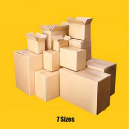 bio box all'ingrosso Sconti 10pcs / lot comerciano il contenitore di imballaggio ondulato del trasporto espresso della scatola di spedizione della carta da imballaggio di 7 dimensioni