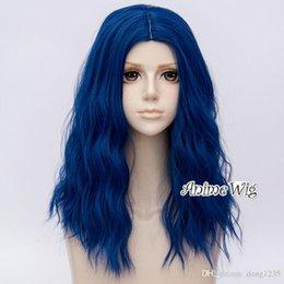 2019 peluca lolita resistente al calor Lolita 50 cm largo rizado Royal Blue Party moda resistente al calor Cosplay peluca envío gratis nueva alta calidad moda imagen peluca peluca lolita resistente al calor baratos