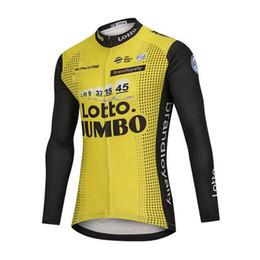 factory direct sale team Aqua Blue sidi LOTTO Jumbo men cycling Jersey long  sleeve mountain bike shirt racing bicycle clothing Y013122 8971fff7a