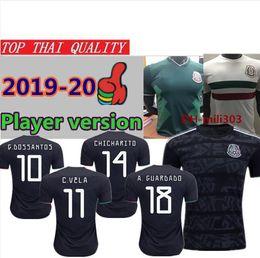 welten gold Rabatt Gold-Cup-Pokal für Mexiko 2019 Spieler Version 19 20 CHICHARITO H.LOZANO RAUL Fußball-Trikots für 2018 World Cup Mexico