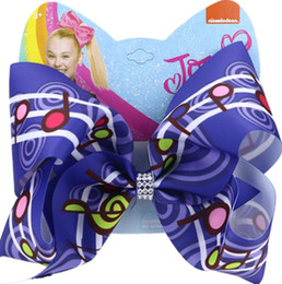 piano accessories Promo Codes - New 2020 8inch jojo siwa girls hair clips Piano Notes ojo siwa bows girls barrettes designer hair accessories baby BB clip