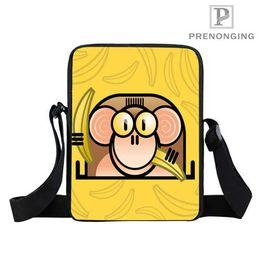 Custom Yellow Base Monkey (1 Mini Mensajero Hombro Crossbody Bolsa bolso Adolescente Bolsa Pequeña Bolsas para Niños Bookbag Regalo # 18-12-31-08 desde fabricantes
