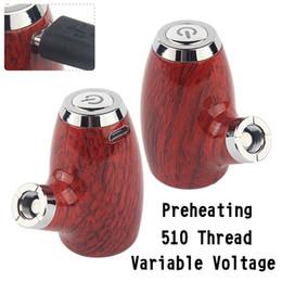 2019 vaporizador de bateria ajustável E Pipe Vaporizador Mod Starter Kit 900 mAh Pré-aqueça VV 510 Threading Tensão Variável Ajustável KY32 Vape Pen Bateria caber todos os Dab Oil Carts desconto vaporizador de bateria ajustável