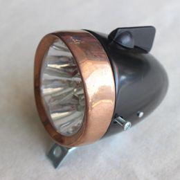 Luces de bicicleta de época online-bicicleta bicicletas accesorios retro luz delantera de la vendimia LED bicicleta lámpara delantera 7