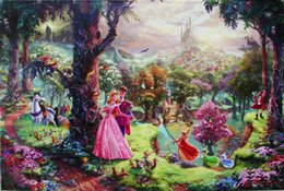 Hd pinturas florales online-Thomas dormir pinturas de impresión de aceite de belleza Decoración pintada a mano HD en lona Wall Art Imágenes 200131 Kinkade