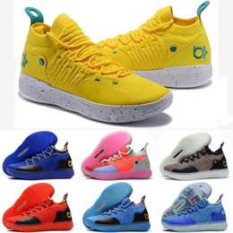 scarpe kevin durant blu Sconti 2019 Nuovo arrivo KD 11 EP Oreo Ice Blue schiuma sportiva Scarpe da basket per uomo di alta qualità Kevin Durant 11s scarpe di design